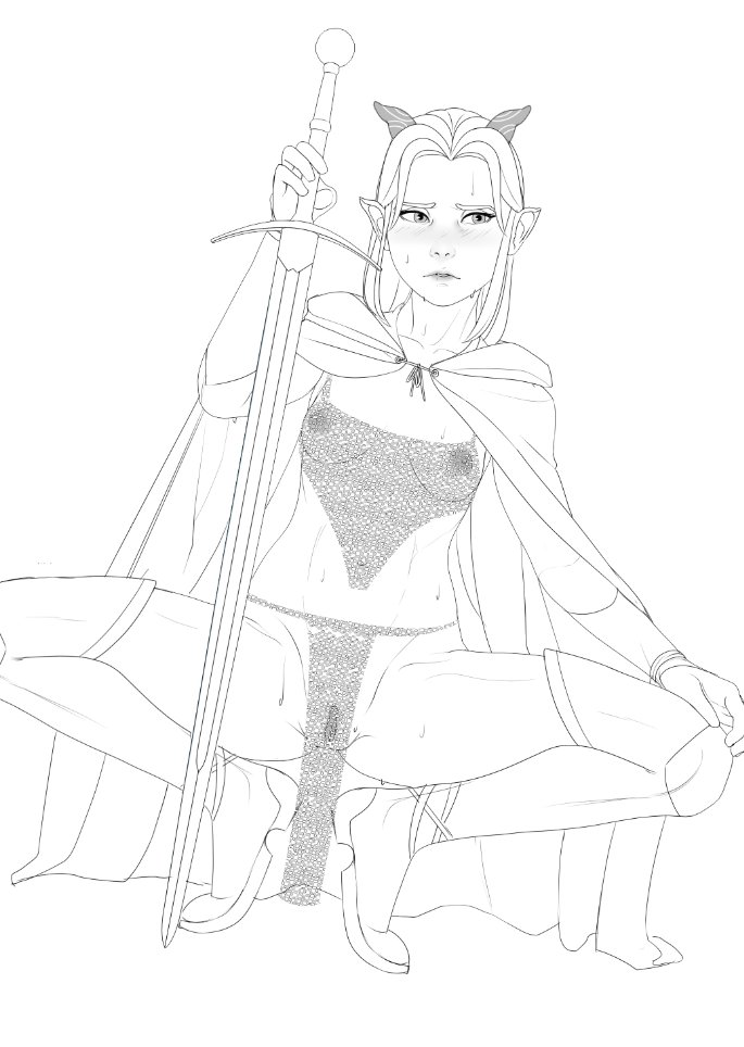 rayla dragon from the prince Boyfriend of the dead