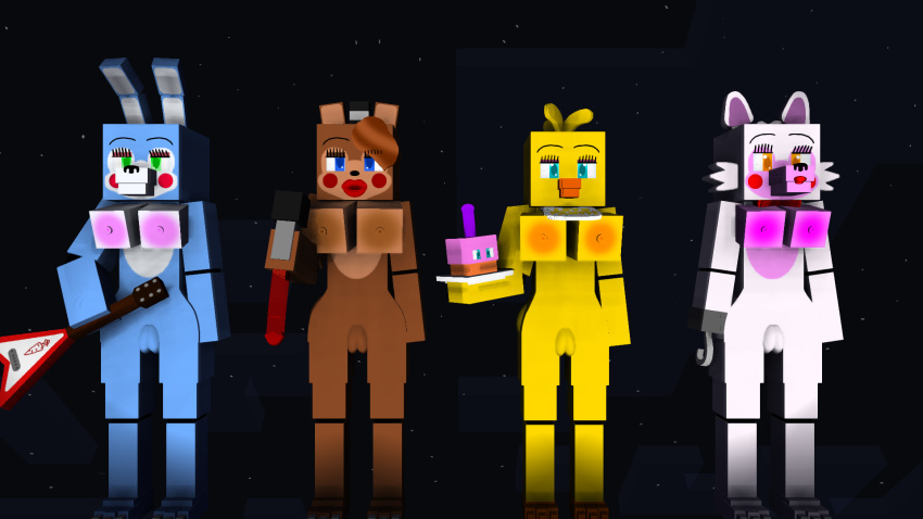 bonnie toy x chica toy fnaf Kushina comes back for naruto fanfiction